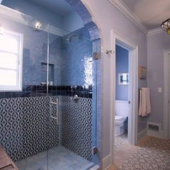 eclectic bathroom by Abbott Moon