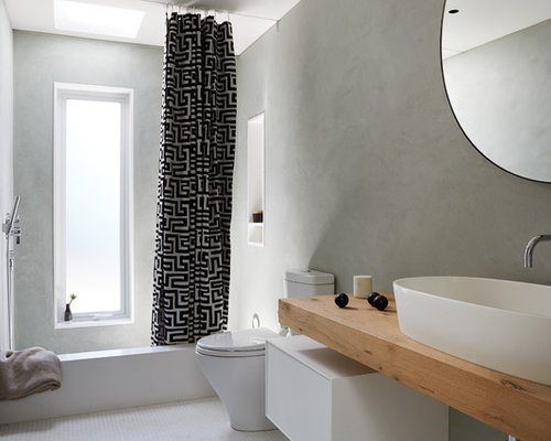 Beautiful Mid Sized Contemporary Master Mosaic Tile Floor And White Floor Alcove  Bathtub Idea In San
