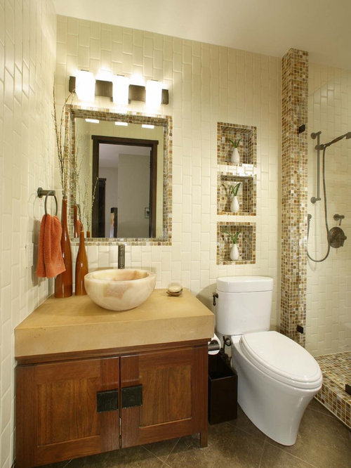Toilet niche home design ideas pictures remodel and decor for Bathroom ideas earth tones