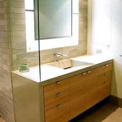 contemporary bathroom by FR James Construction