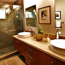 Contemporary Bathroom by Lea Bartneck, owner of Design Concepts, showroom