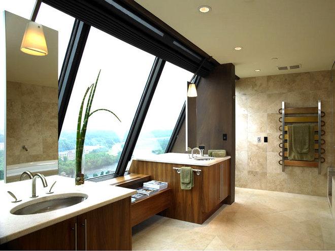 Contemporary Bathroom by LKM Design