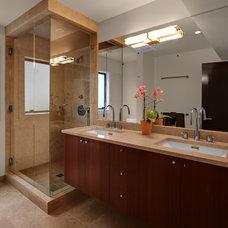 Transitional Bathroom by Logan's Hammer Building & Renovation