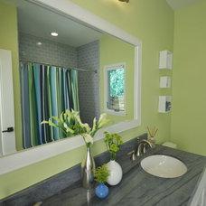 Transitional Bathroom by Susan Deneau Interior Design