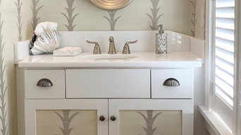 Guest Bathroom with Hand Painted Vines