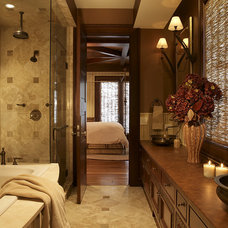 rustic bathroom by Billy Beson Company
