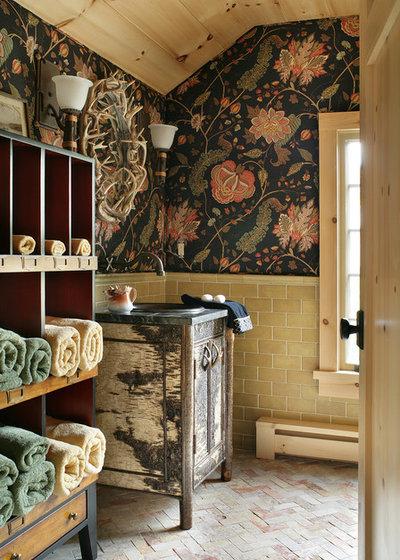 Rustic Bathroom by VHZ Design Group