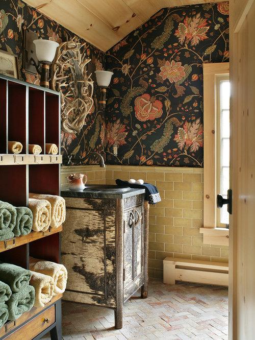 Storage Bathroom Design Ideas Renovations Photos With Multi Coloured W