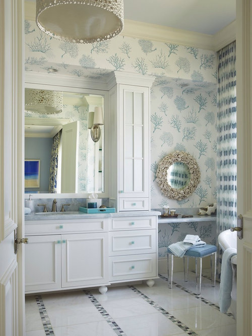 Coral Wallpaper Houzz