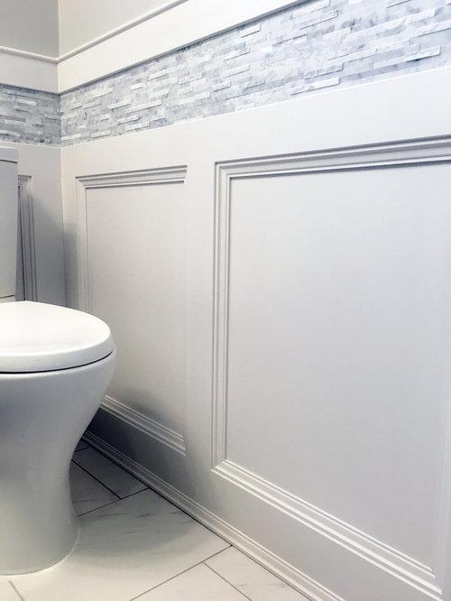 Tuxedo guest washroom renovation for Washroom renovation