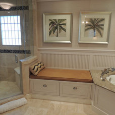 Tropical Bathroom by Dynan Construction Management