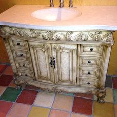Mediterranean Bathroom by Abilene Decorative Concrete Werks, Inc.