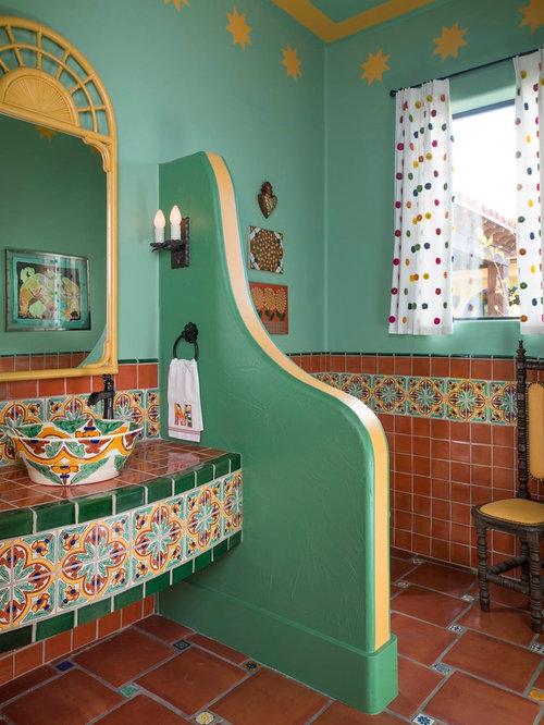 Family bathroom design ideas renovations photos with for Southwestern flooring