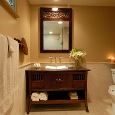Tropical Bathroom by Archipelago Hawaii Luxury Home Designs