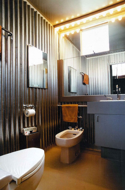 Industrial Bathroom by Glenn Robert Lym Architect