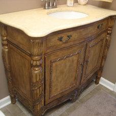 Traditional Bathroom half-bath vanity
