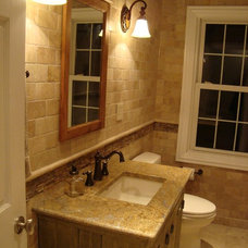 Rustic Bathroom by Patrick A. Finn, Ltd