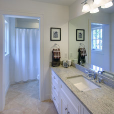 Eclectic Bathroom by Redbud Custom Homes