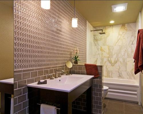 Bathroom Knee Wall tile knee wall | houzz