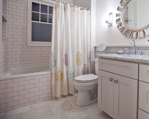 Tile around window houzz for Hall bath remodel ideas