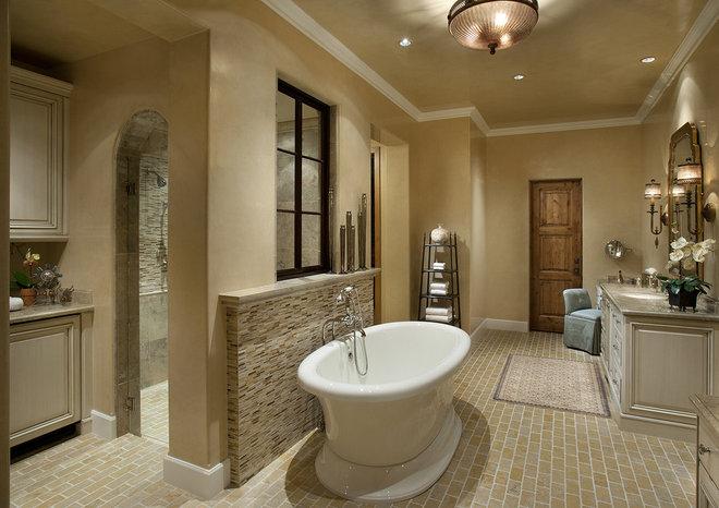 Contemporary Bathroom by Hallmark Interior Design LLC