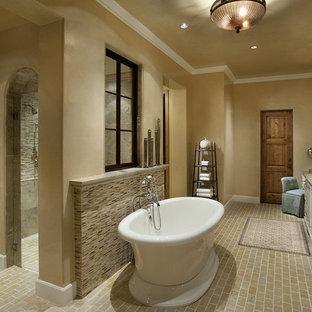 Example of a trendy freestanding bathtub design in Phoenix