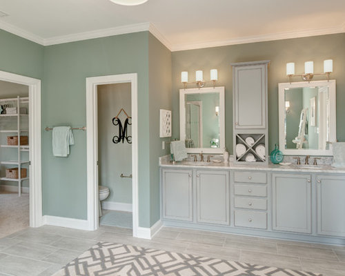 Houzz | 50+ Best Richmond Bathroom with Blue Cabinets Pictures ...