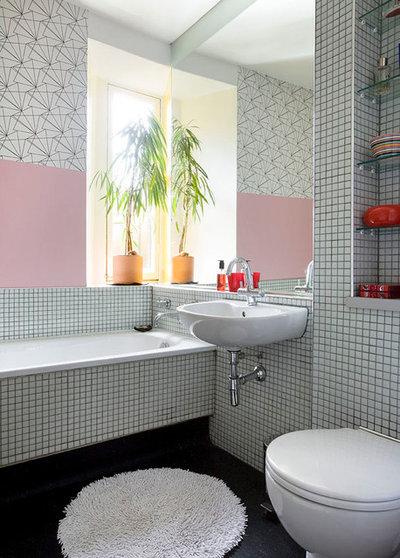 10 ideen die jedes halbhoch geflieste bad aufpeppen for Fliesenspiegel verdecken