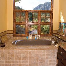 Rustic Bathroom by Hines Designs