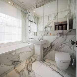 Design ideas for a small contemporary ensuite bathroom in London with a built-in bath & 75 Most Popular Small Bathroom Design Ideas for 2018 - Stylish Small ...