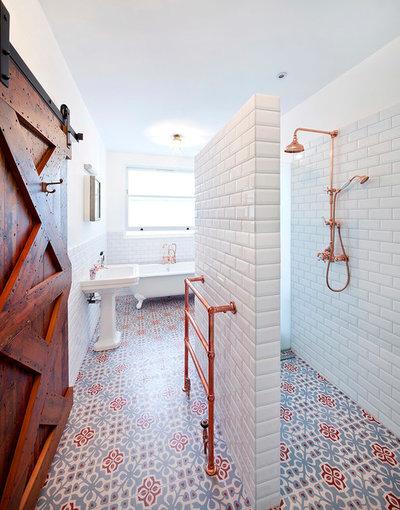 Tendens: bliv nyforelsket i dit badeværelse med mønstrede gulvfliser
