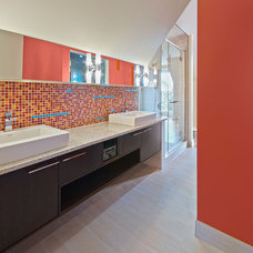 Modern Bathroom by Kariouk Associates