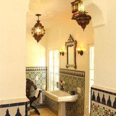 Mediterranean Bathroom by Le Mosaiste