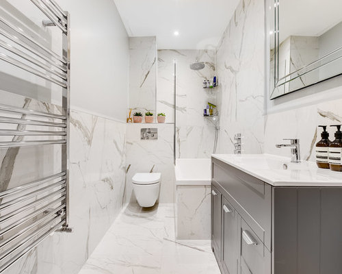 This Is An Example Of A Medium Sized Contemporary Bathroom In London With A  Built
