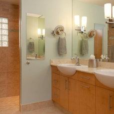 Contemporary Bathroom by LiveSmart Design