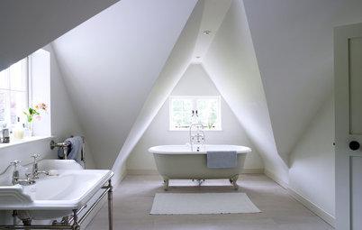 Badezimmer mit Dachschräge: 9 Einrichtungstipps