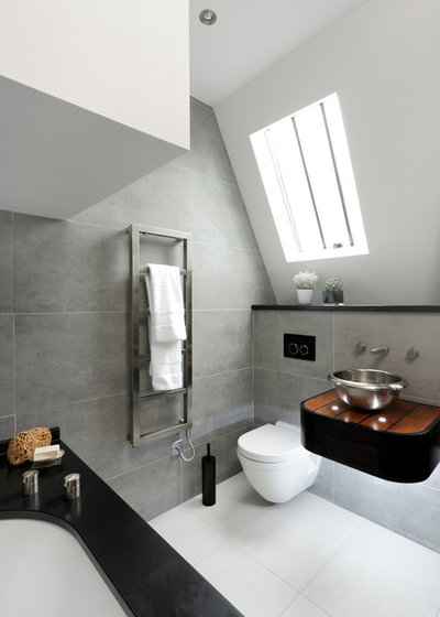 Contemporary Bathroom by CUBIC Studios Limited
