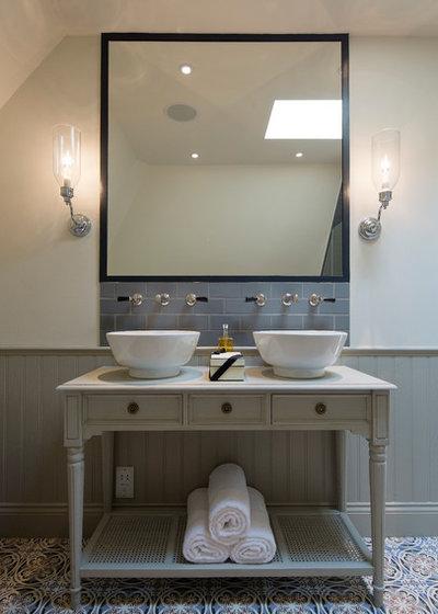 Bathroom splashbacks that make a style statement for Sink splashback ideas