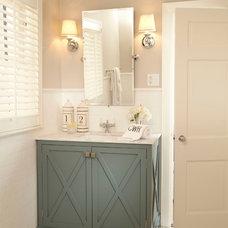 Traditional Bathroom by Tiffany Farha Design