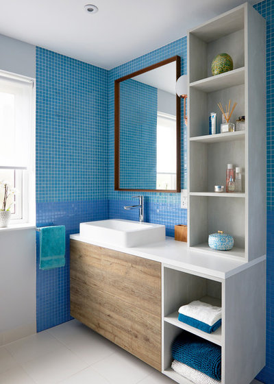 Transitional Bathroom by Kia Designs