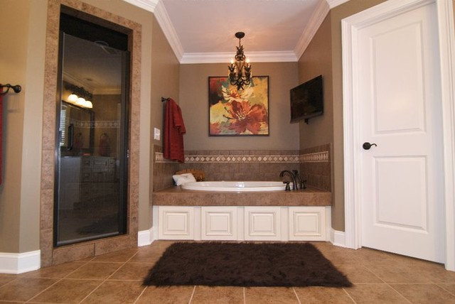 Traditional Bathroom by Quality Stone Concepts