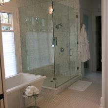 Traditional Bathroom by Cornerstone Interiors