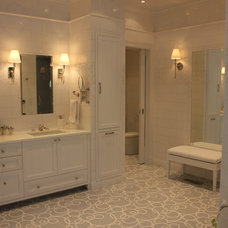 Traditional Bathroom by Maxine Shriber Design