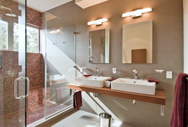 Contemporary Bathroom by MKL Construction Corp.