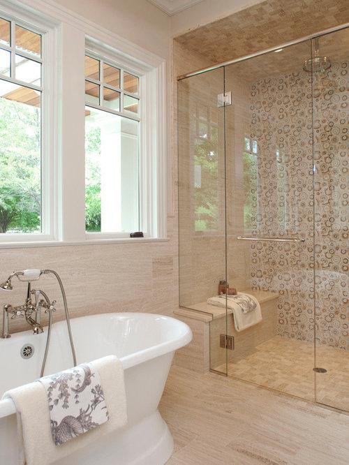 best bathroom with beige tile design ideas  remodel