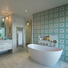 Beach Style Bathroom by David Howell Design