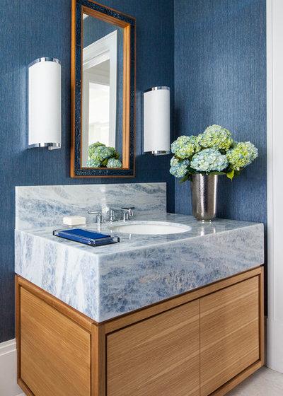 Transitional Bathroom by Michael Davis Design & Construction