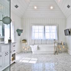 Beach Style Bathroom by Hamptons Habitat Enterprises Corp.
