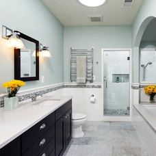 Mediterranean Bathroom by SAI Contracting