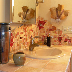 eclectic bathroom by Vickie Morrow